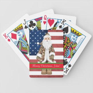 Custom Military Christmas Playing Cards