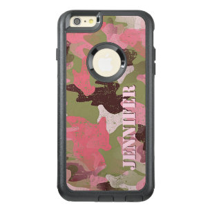 sports shoes c3583 df74a Custom Military Green Pink Camouflage Pattern OtterBox iPhone 6/6s Plus Case