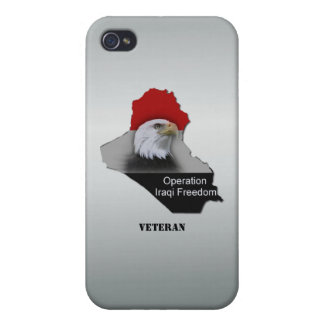 Custom Military Veteran Operation Iraqi Freedom Covers For iPhone 4