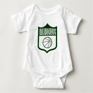 Custom Milwaukee Shield Design1 Baby Bodysuit