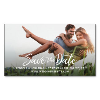 Custom Mini Affordable Save the Date Photo Magnets