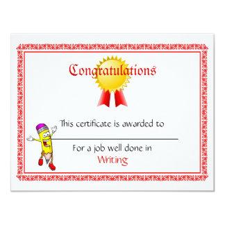 Custom Mini Award Certificates Card