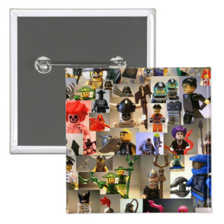 Custom Minifigure Collage Pinback Button