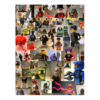 Custom Minifigure Collage Postcard