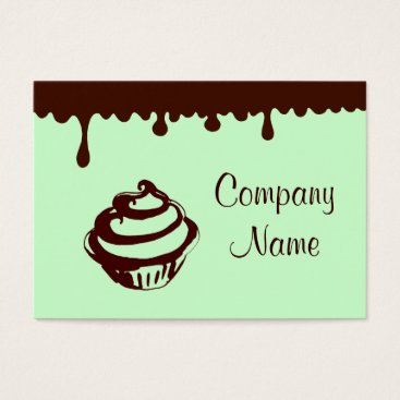 Professional Business Custom Mint Chocolate Cupcake Business Cards