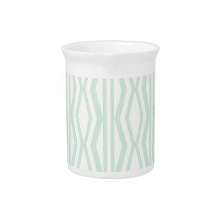 Custom Mint Cream Geometric Pattern Pitcher