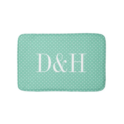 Luxury Kitchen Rug  Petals Monogrammed Bath Rugs  Personalized Bath Rug