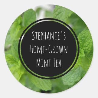 Custom Mint Tea/Spice/Herb Bottle Jar Garden Label