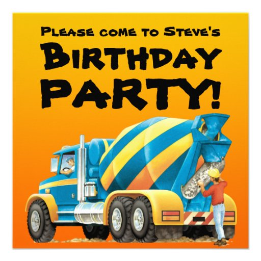 Custom Mixer Party Invitations