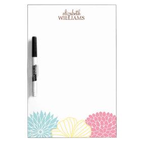 Custom Mod Florals Dry-Erase Whiteboard