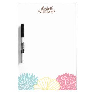 Custom Mod Florals Dry-Erase Board