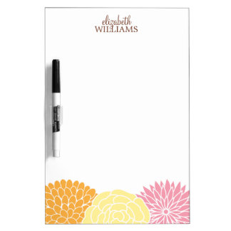 Custom Mod Florals Dry Erase Boards