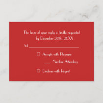 Custom Modern Christmas Red Holiday Party RSVP