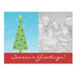 Custom Modern Christmas Tree Holiday Postcards