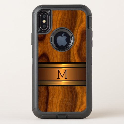 Custom Modern Cool Trendy Wood Grain Pattern Phone Case