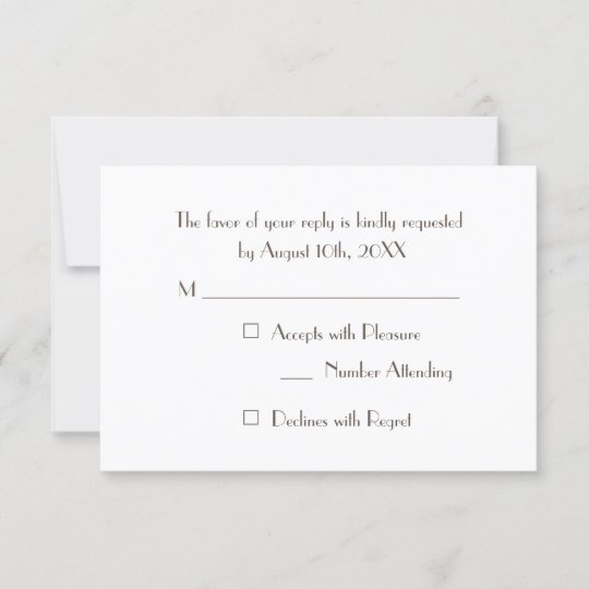 Fun Wedding Rsvp Card Wording: Custom Modern Elegant Party RSVP Invitation Card