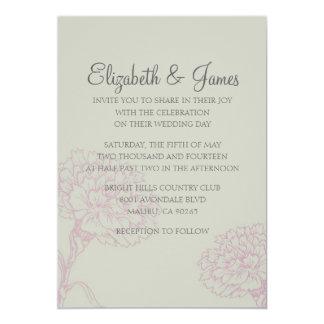 Custom Modern Flower Wedding Invitations Custom Announcement