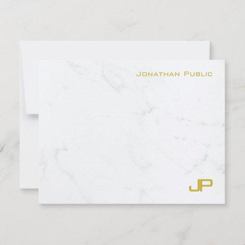 Custom Modern Gold White Marble Simple Template