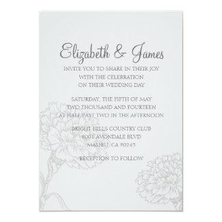 Custom Modern Grey Wedding Invitations Cards