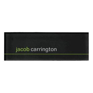 Custom Modern Micro Stripe Name Tag