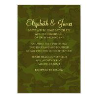 Custom Modern Military Wedding Invitations