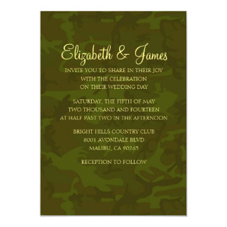 Custom Modern Military Wedding Invitations