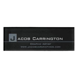 Custom Modern Monogram Micro Stripe Name Tag