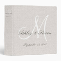 Custom Modern Monogram Wedding Binder