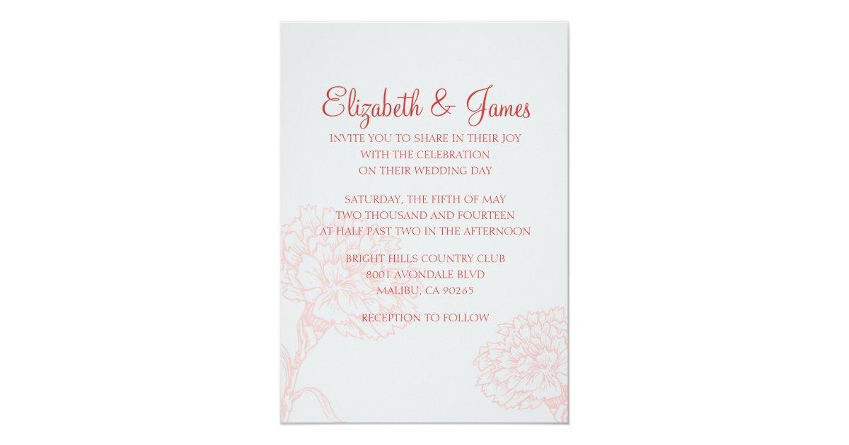 custom modern red wedding invitations zazzle With red nell wedding invitations