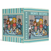 Custom Mom's Recipe Binder Scrapbook binder