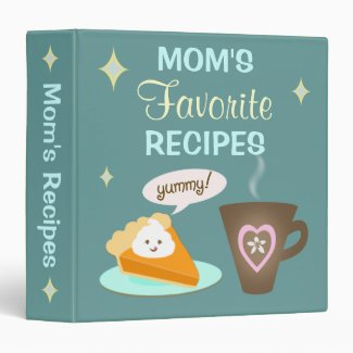 Custom Mom's Recipe Binder Scrapbook