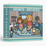 Custom Mom's Recipe Binder Scrapbook (Med.)