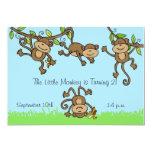 """Custom Monkey Around 5x7 Birthday Invitation 5"""" X 7"""" Invitation Card"""