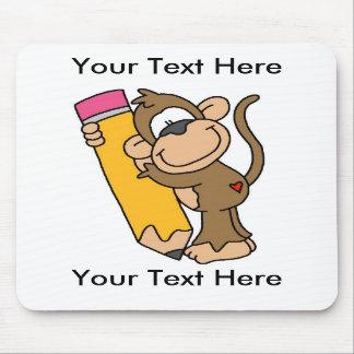 Custom Monkey Pencil Mousepad - Customizable