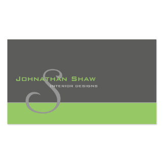 Custom Monogram 1 Business Card