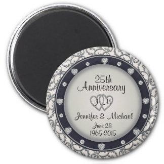 Custom Monogram 25th Anniversary Magnet