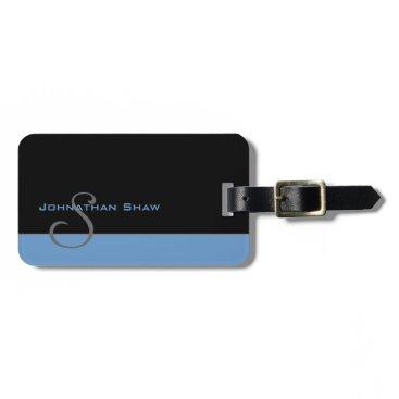 pixelholicBC Custom Monogram 5 (Blue) Bag Tag
