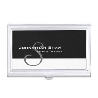 Custom Monogram 5 Business Card Holder