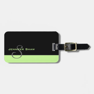 Custom Monogram 5 (Mint Green) Luggage Tag