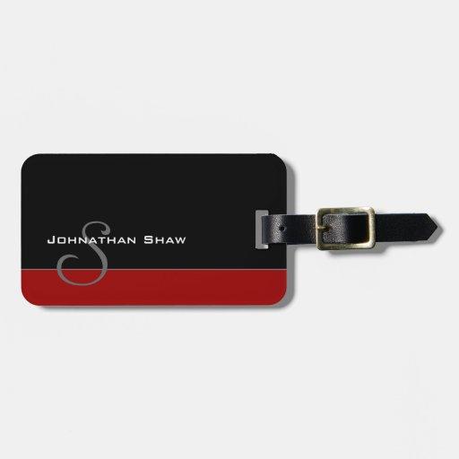 Custom Monogram 5 (Red) Bag Tag