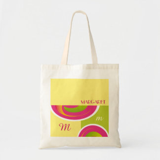 Custom Monogram and Name Birthday Gift Tote Bags