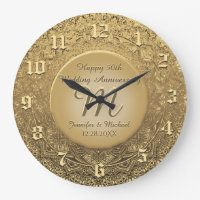 Custom Monogram Anniversary Clock