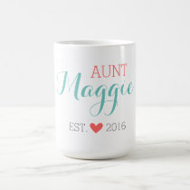 Custom Monogram Aunt Coffee Mug