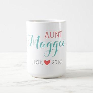 Toddler & Baby themed Custom Monogram Aunt Coffee Mug
