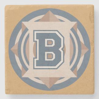 "Custom Monogram ""B"" Initial Stone Coaster"