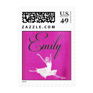 Custom Monogram Ballet Bat Mitzvah stamps