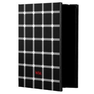 Custom Monogram Black and White Optical Illusion Powis iPad Air 2 Case