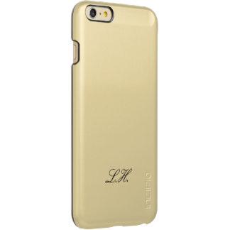Custom Monogram Black Script Simple Monogrammed Incipio Feather® Shine iPhone 6 Plus Case