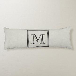 Custom Monogram Body Pillow