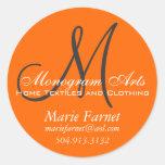 Custom Monogram Business Sticker 1.5 inches